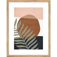 Obraz Liść na kolorowym tle I 30 x 40 cm