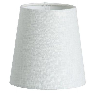 Abażur CLIP 17.5 x 17 cm tkanina biały ORIVA AB
