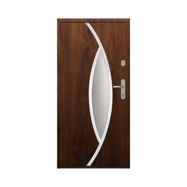 Drzwi zewnętrzne stalowe antywłamaniowe RC2 Ottawa 90 lewe orzech Loxa