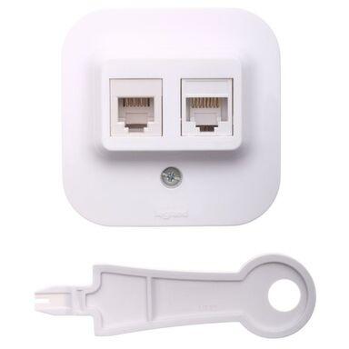 Gniazdo telefoniczno - komputerowe FORIX  biały  LEGRAND