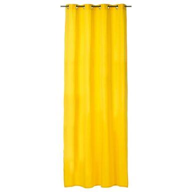Zasłona ELEMA żółta 140 x 280 cm na przelotkach INSPIRE