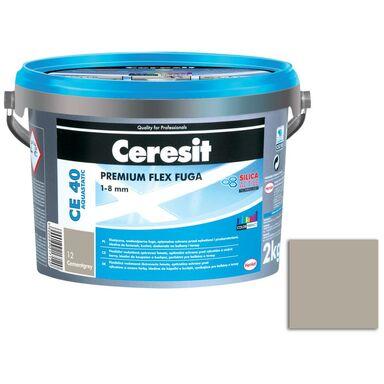 Fuga cementowa WODOODPORNA CE40  ciemny szary  2 kg CERESIT