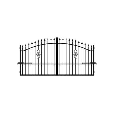 Brama dwuskrzydłowa PALERMO 300 x 150 cm z automatem POLARGOS