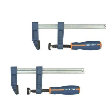 Zestaw ścisków śrubowych 50 x 150 mm C 10519600 2 szt. Dexter