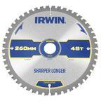 Tarcza do pilarki tarczowej 260MM/48T M/30  260 mm zęby: 48 szt. IRWIN CONSTRUCTION