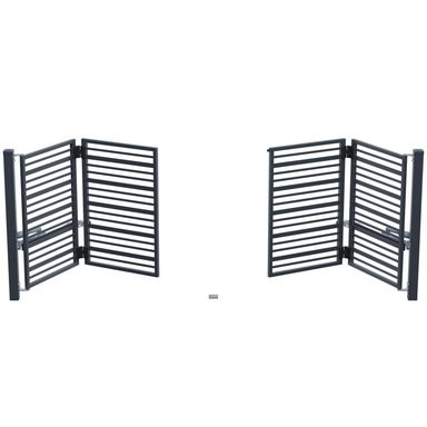 Brama uchylna łamana RUBIN 415 x 150 cm z automatem POLARGOS