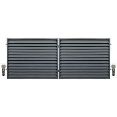 Brama dwuskrzydłowa KRETA 400 x 150 cm z automatem POLBRAM antracyt