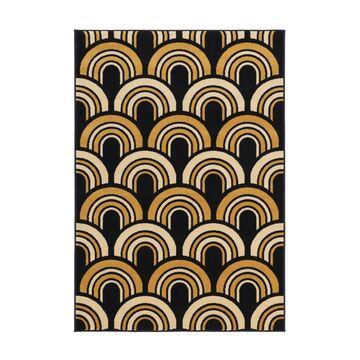 Dywan FLOORST granatowo-złoty 133 x 190 cm