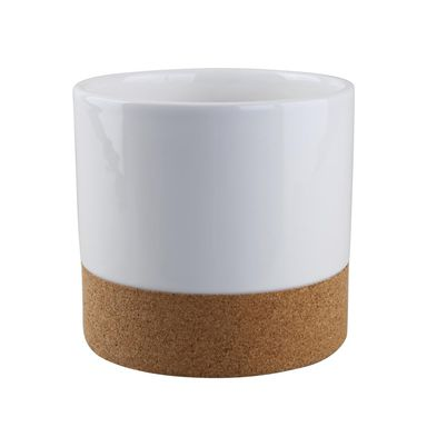 Osłonka ceramiczna 13.3 cm biała KOREK
