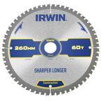 Tarcza do pilarki tarczowej 260MM/60T M/30  260 mm zęby: 60 szt. IRWIN CONSTRUCTION