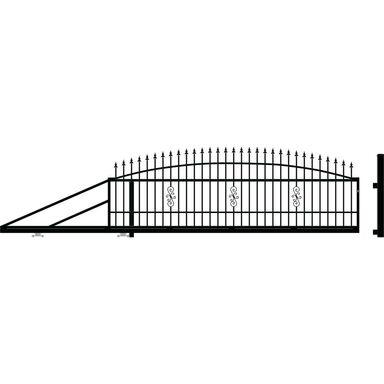 Brama przesuwna PALERMO 410 x 144 cm lewa POLARGOS