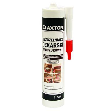 Uszczelniacz dekarski kauczukowy Bezbarwny 310 ml AXTON