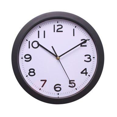 Zegar ścienny BAZO śr. 30.5 cm czarny
