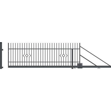 Brama przesuwna prawa z automatem LILA 400cm POLARGOS