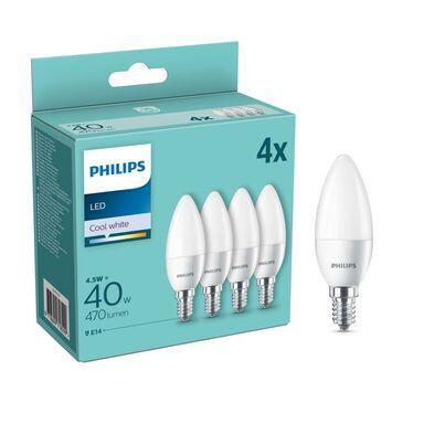 Żarówka LED E14 4 szt. 4.5 W = 40 W 470 lm Neutralna PHILIPS