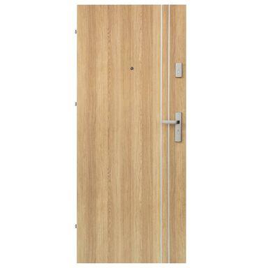 Drzwi zewnętrzne drewniane Iryd 01 dąb polski 80 Lewe Domidor