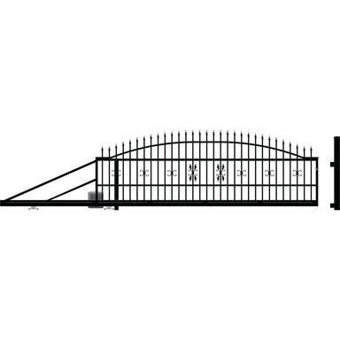 Brama przesuwna z automatem ELIZA III 410 x 144 cm lewa POLARGOS