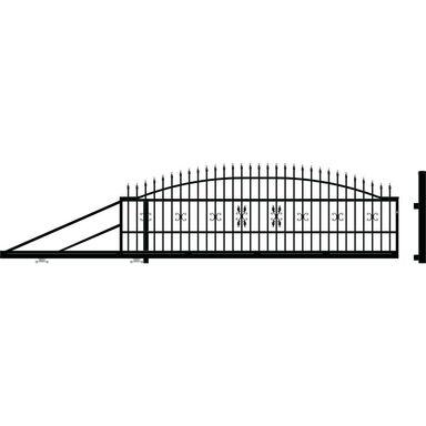 Brama przesuwna ELIZA III 400 x 144 cm lewa POLARGOS