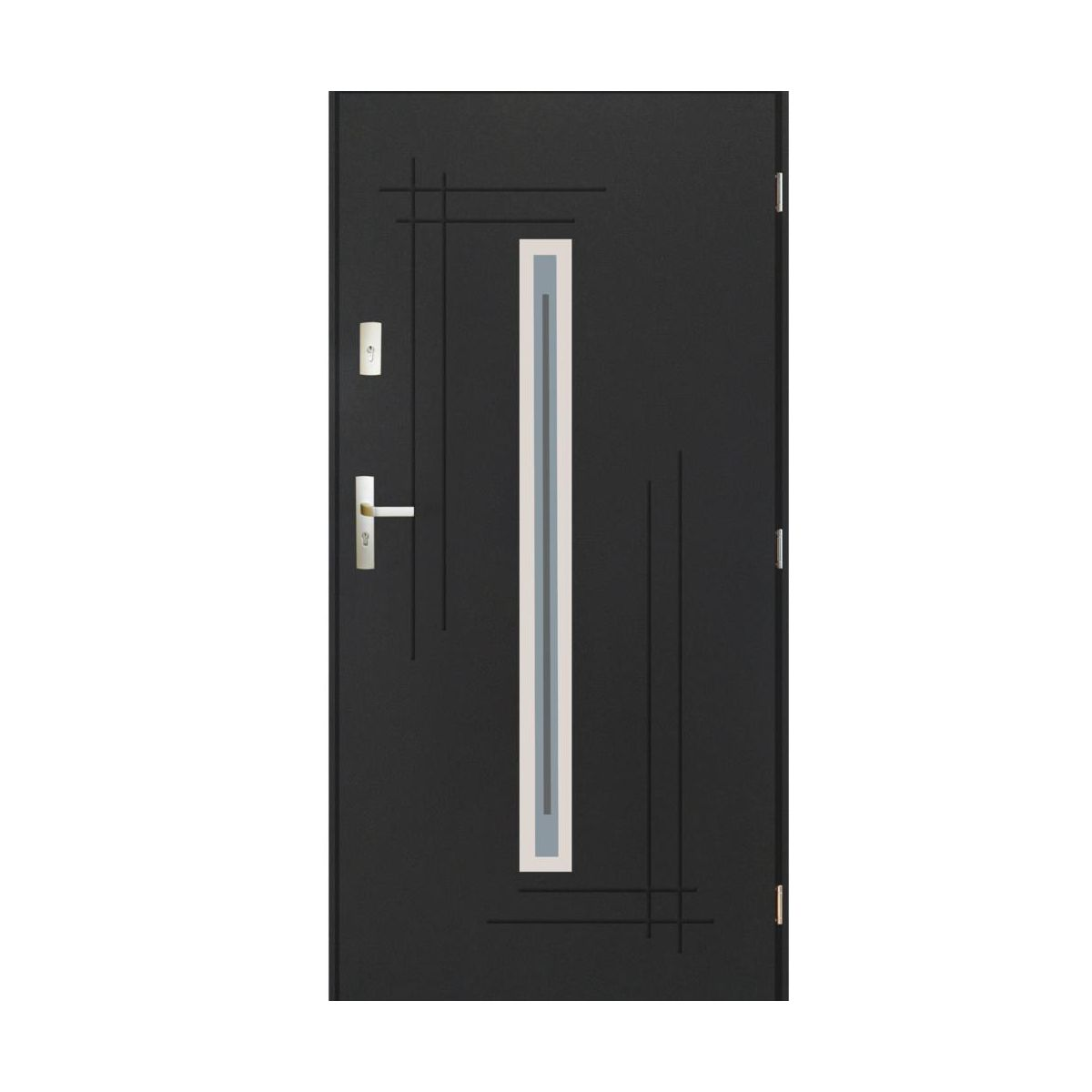 Drzwi Wejsciowe Ozyrys Antracyt 90 Prawe Pantor Drzwi Zewnetrzne Do Domu Mieszkania W Atrakcyjnej Cenie W Sklepach Leroy Merlin