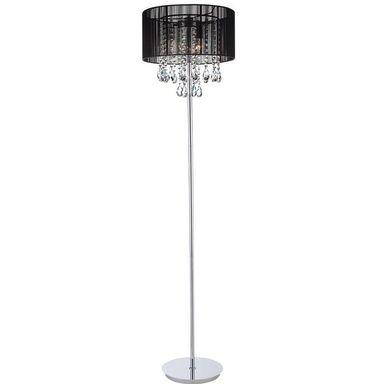 Lampa podłogowa ESSENCE czarna z kryształkami E14 ITALUX