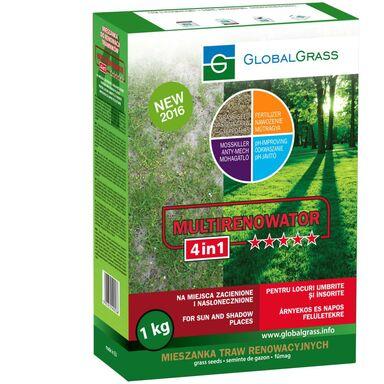Trawa renowacyjna na miejsca zacienione i nasłonecznione MULTIRENOWATOR 4in1 1 kg GLOBAL GRASS