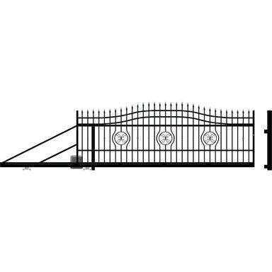 Brama przesuwna z automatem MALAGA III 400 x 154 cm lewa POLARGOS