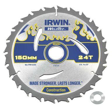 Tarcza do pilarki tarczowej 150MM/24T/20(16) śr. 150 mm  24 z IRWIN WELDTEC