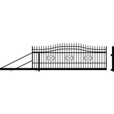 Brama przesuwna MALAGA III 410 x 154 cm lewa POLARGOS