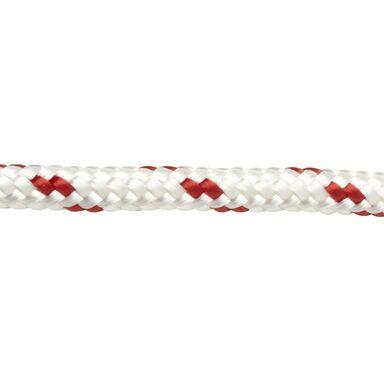 Lina PE 250 kg 8 mm x 100 m pleciona biało-czerwona STANDERS