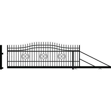 Brama przesuwna MALAGA III 410 x 154 cm Prawa POLARGOS