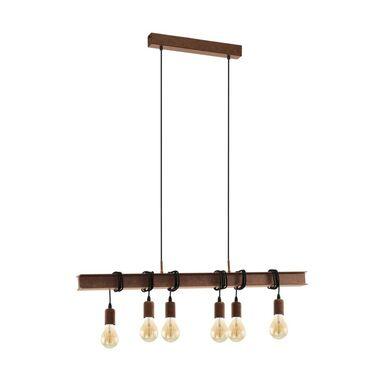 Lampa wisząca TOWNSHEND brązowa 6 x E27 EGLO