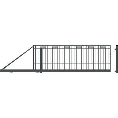 Brama przesuwna ARGOS 2 400 x 144 cm lewa POLARGOS