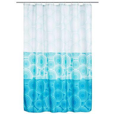 Zasłonka tekstylna BLUE RING 180 x 200 cm DUSCHY