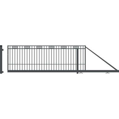 Brama przesuwna ARGOS 2 400 x 144 cm prawa POLARGOS