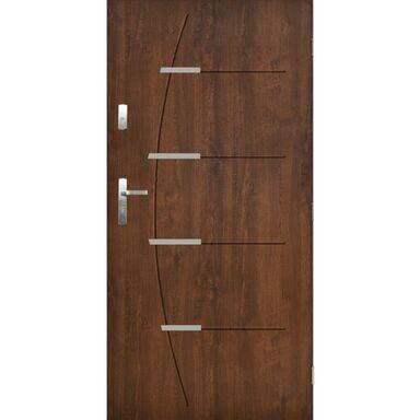 Drzwi wejściowe BORDEAUX Orzech 90 Prawe PANTOR