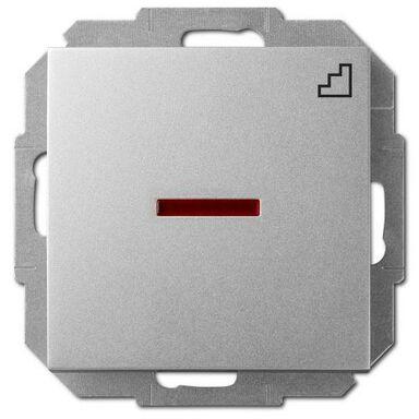 Włącznik pojedynczy schodowy z podświetleniem SENTIA Srebrny ELEKTRO-PLAST