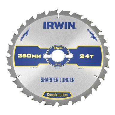 Tarcza do pilarki tarczowej 250 mm/24T/30 IRWIN CONSTRUCTION