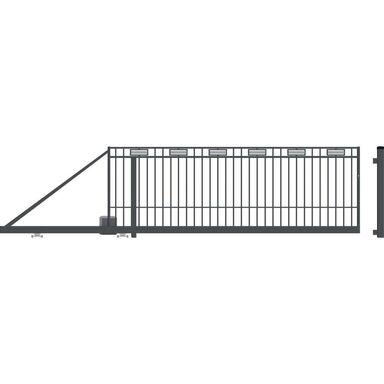 Brama przesuwna z automatem ARGOS 2 410 x 144 cm Lewa POLARGOS