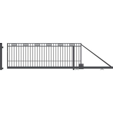 Brama przesuwna z automatem ARGOS 2 410 x 144 cm Prawa POLARGOS