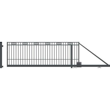 Brama przesuwna z automatem ARGOS II 410 x 144 cm prawa POLARGOS