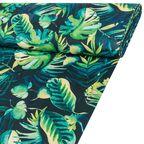 Tkanina leżakowa na mb JUNGLE zielona w liście szer. 160 cm