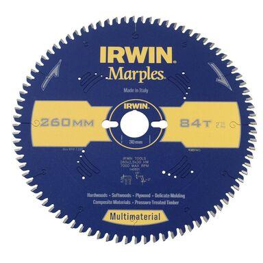 Tarcza do pilarki tarczowej 260MM/84T/30  260 mm zęby: 84 szt. IRWIN MARPLES MULTIMATERIAL