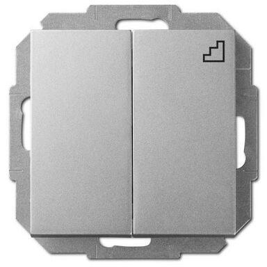 Włącznik schodowy PODWÓJNY SENTIA  Srebrny  ELEKTRO-PLAST