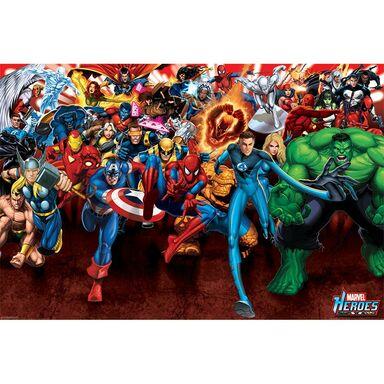 Plakat Marvel Heroes Attack 915 X 61 Cm
