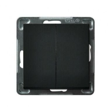 Włącznik podwójny SONATA  czarny  OSPEL