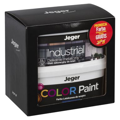 Zestaw INDUSTRIAL 1 l + 1 l GRATIS Quartz Efekt dekoracyjny JEGER