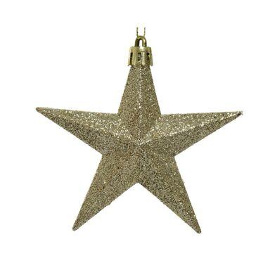 Zawieszka gwiazda brokatowa 9.5 cm 1 szt. złota