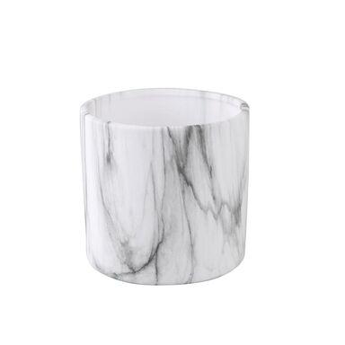 Osłonka na doniczkę 13 cm ceramiczna MARMUR