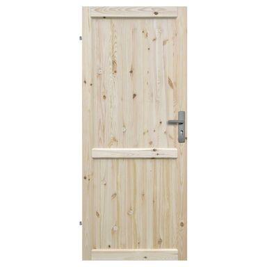 Skrzydło drzwiowe drewniane pełne Eko 80 Lewe Radex