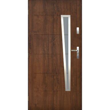 Drzwi zewnętrzne stalowe Marsylia orzech 90 lewe Pantor
